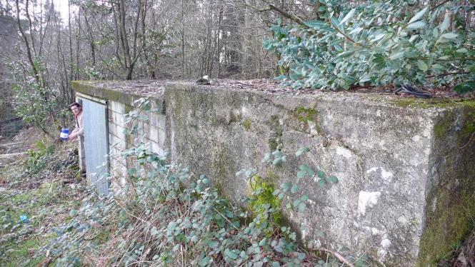 Vista del edificio de protección de los depósitos de cabecera
