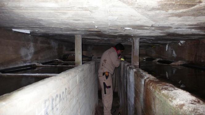 Vista interior depósitos individuales