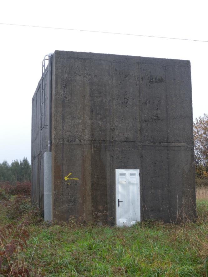 Vista exterior del depósito de almacenamiento